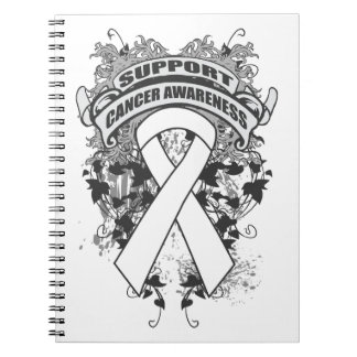 Bone Cancer - Cool Support Awareness Slogan Note Books