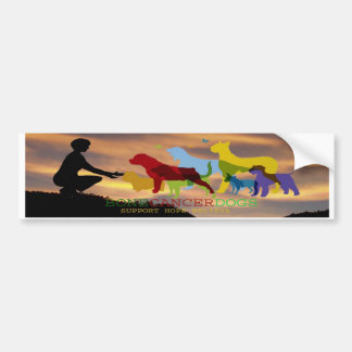 Bone Cancer Dogs Colorado Sky Bumper Sticker