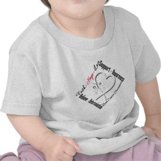 Bone Cancer Faith Hope Love Butterfly Tee Shirt