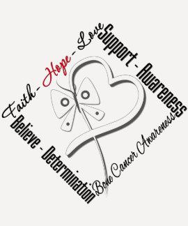 Bone Cancer Faith Hope Love Butterfly T-shirt