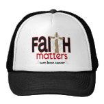Bone Cancer Faith Matters Cross 1 Hat