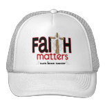 Bone Cancer Faith Matters Cross 1 Mesh Hats