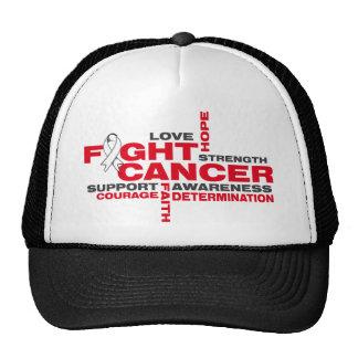 Bone Cancer Fight Collage Trucker Hat