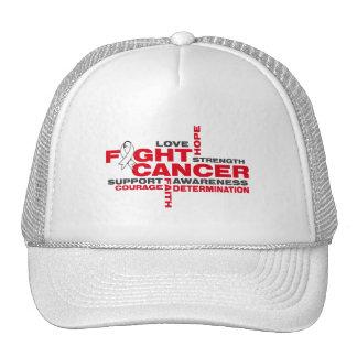 Bone Cancer Fight Collage Trucker Hats