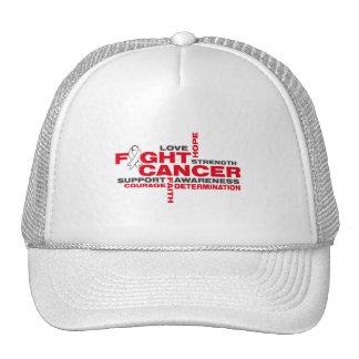 Bone Cancer Fight Collage Hat