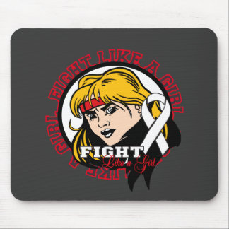 Bone Cancer Fight Like A Girl Attitude Mouse Pad