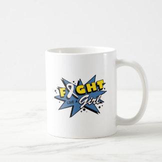 Bone Cancer Fight Like A Girl POW! Mug