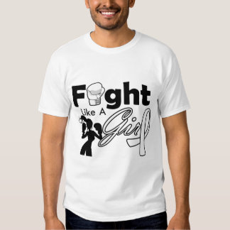 Bone Cancer Fight Like A Girl Silhouette T Shirts