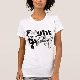 Bone Cancer Fight Like A Girl Silhouette T Shirts
