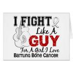 Bone Cancer Fight Like A Guy 15 Greeting Card