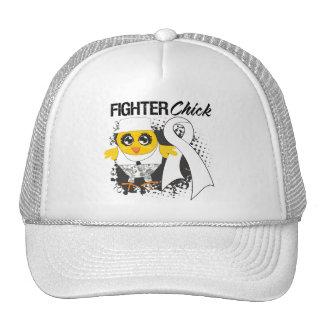 Bone Cancer Fighter Chick Grunge Trucker Hat