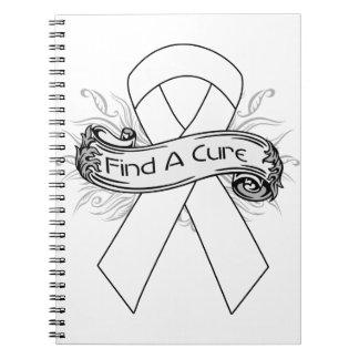 Bone Cancer Find A Cure Ribbon Spiral Note Books