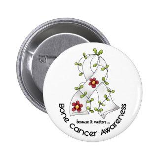 Bone Cancer FLOWER RIBBON 1 6 Cm Round Badge