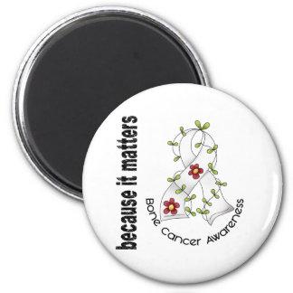 Bone Cancer Flower Ribbon 3 6 Cm Round Magnet