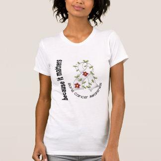 Bone Cancer Flower Ribbon 3 T-shirt