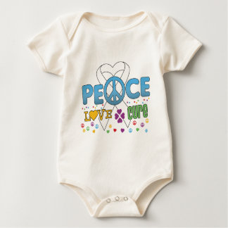 Bone Cancer Groovy Peace Love Cure Rompers