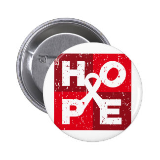 Bone Cancer HOPE Cube 6 Cm Round Badge