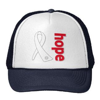Bone Cancer Hope Ribbon Hat