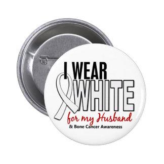 Bone Cancer I Wear White For My Husband 10 Pin