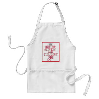 Bone Cancer Keep Calm and Carry On Adult Apron