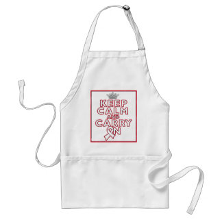 Bone Cancer Keep Calm and Carry On Aprons