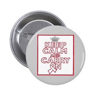 Bone Cancer Keep Calm and Carry On Pins