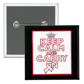 Bone Cancer Keep Calm and Carry On Button