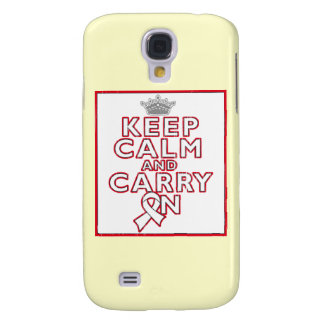Bone Cancer Keep Calm and Carry On Samsung Galaxy S4 Cover