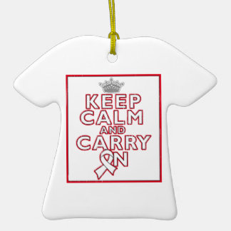 Bone Cancer Keep Calm and Carry On Ornament