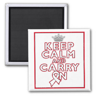Bone Cancer Keep Calm and Carry On Fridge Magnet