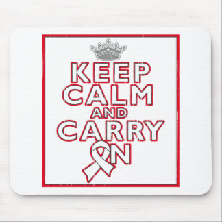 Bone Cancer Keep Calm and Carry On Mouse Pad
