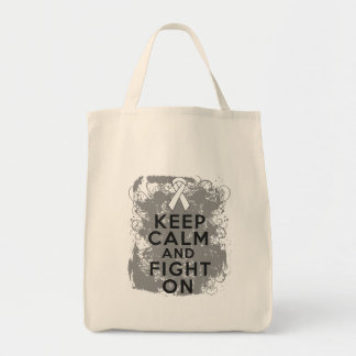 Bone Cancer Keep Calm and Fight On.png Canvas Bag