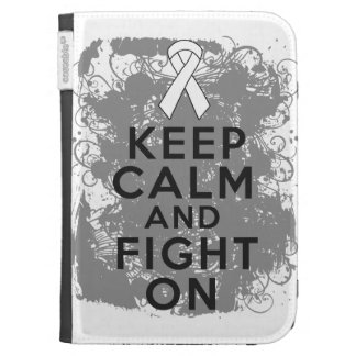 Bone Cancer Keep Calm and Fight On.png Kindle Folio Cases