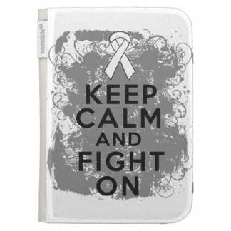 Bone Cancer Keep Calm and Fight On.png Cases For Kindle