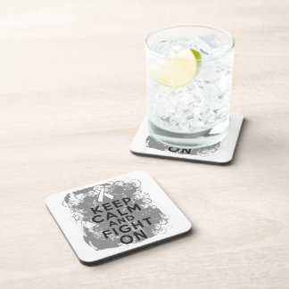 Bone Cancer Keep Calm and Fight On png Coasters