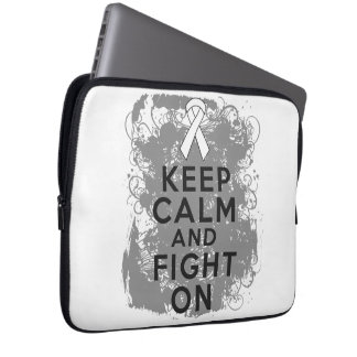 Bone Cancer Keep Calm and Fight On.png Laptop Sleeves