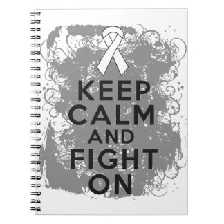 Bone Cancer Keep Calm and Fight On png Notebook