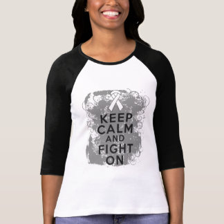 Bone Cancer Keep Calm and Fight On.png Tshirts