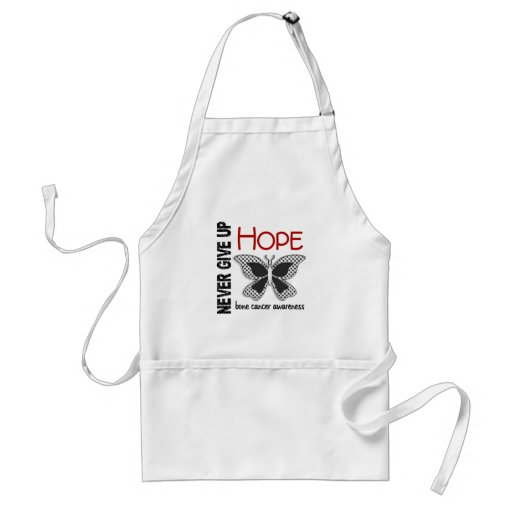 Bone Cancer Never Give Up Hope Butterfly 4.1 Aprons