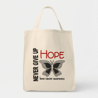 Bone Cancer Never Give Up Hope Butterfly 4 1 Canvas Bags