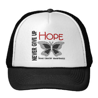 Bone Cancer Never Give Up Hope Butterfly 4.1 Trucker Hat