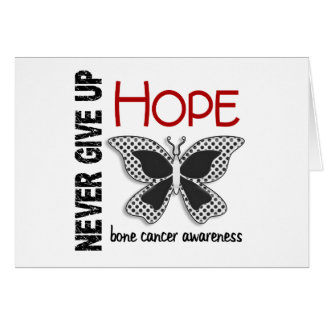 Bone Cancer Never Give Up Hope Butterfly 4.1 Greeting Cards