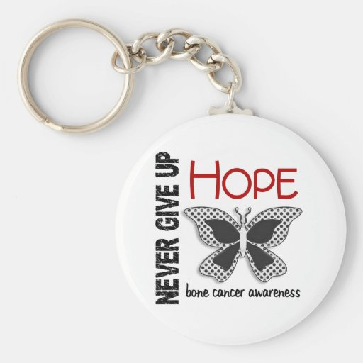 Bone Cancer Never Give Up Hope Butterfly 4.1 Key Chains