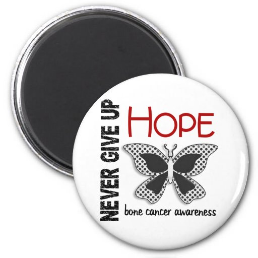 Bone Cancer Never Give Up Hope Butterfly 4.1 Fridge Magnets