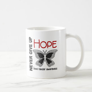 Bone Cancer Never Give Up Hope Butterfly 4.1 Mugs