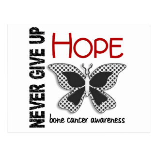 Bone Cancer Never Give Up Hope Butterfly 4.1 Postcard