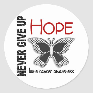 Bone Cancer Never Give Up Hope Butterfly 4.1 Stickers