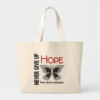 Bone Cancer Never Give Up Hope Butterfly 4.1 Tote Bag