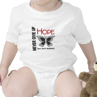 Bone Cancer Never Give Up Hope Butterfly 4.1 Tshirt