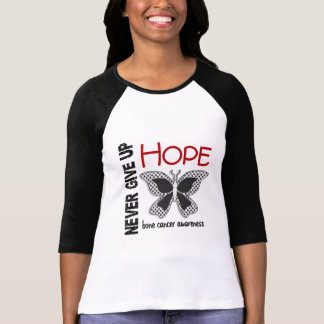 Bone Cancer Never Give Up Hope Butterfly 4.1 Tee Shirt